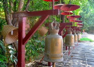 Line of Bells at Wat Phan Tao Best Temples in Chiang Mai Old City