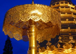 Doi Suthep Gold, Top 10 Attractions in Chiang Mai Province Thailand