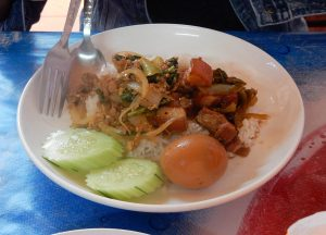 Rice Buffet, Best Khao Jee Lao Sandwich in Vientiane Laos Riverside