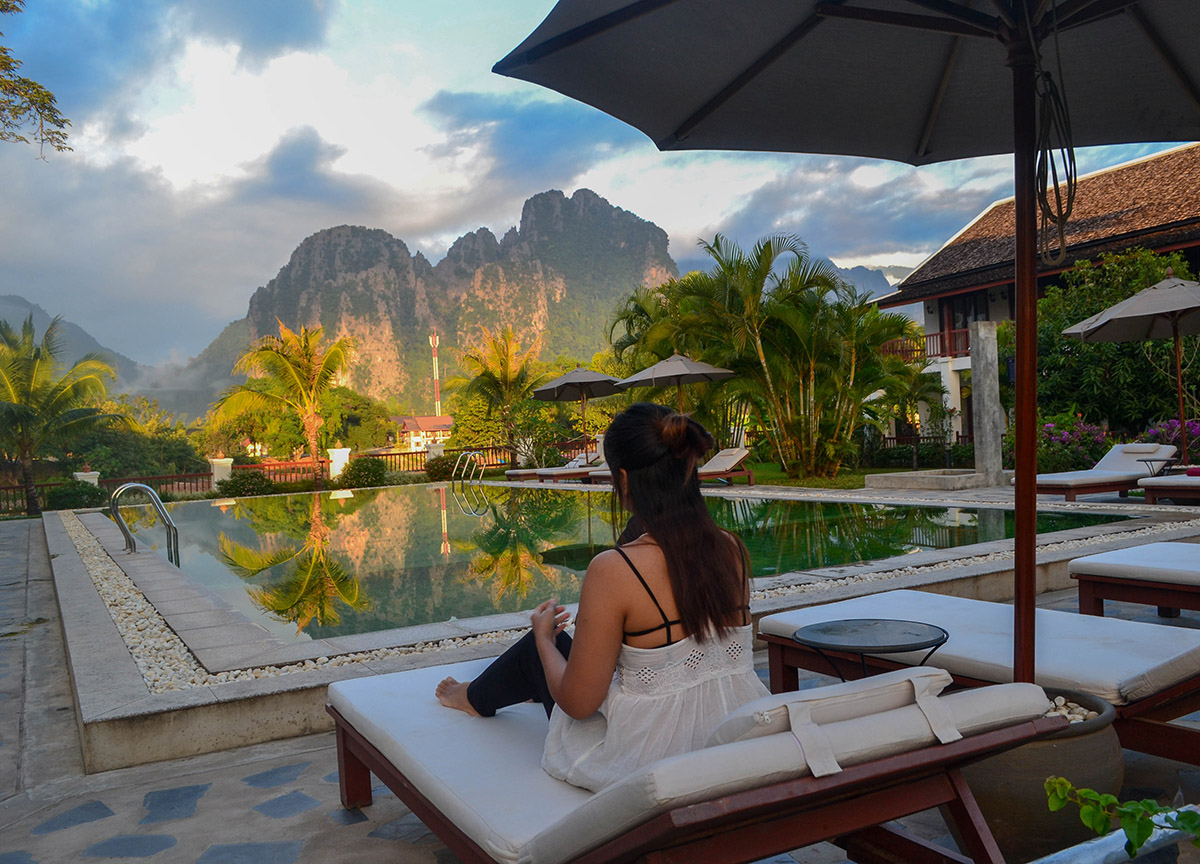 Luxury vang vieng hotel riverside boutique resort spa