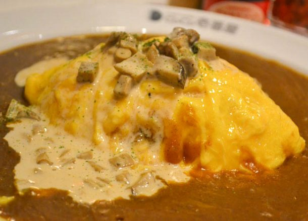 Omelette Curry, Local Tokyo Coco Ichibanya World's Best Curry House Franchise