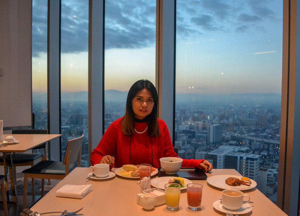 Buffet Breakfast VIews, Marriott Miyako Hotel, Best Views of Osaka