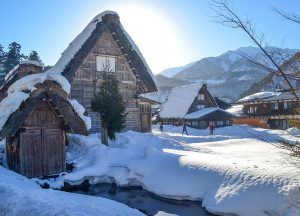 Shirakawago in Snow,JR Japan Rail Pass Travel in Winter February Snow
