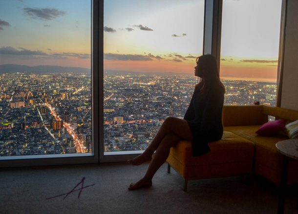 Sunset in Osaka, Marriott Miyako Hotel, Best Views of Osaka