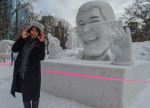 PAPP Snow Sculpture, JR Japan Rail Pass Travel in Winter February Snow