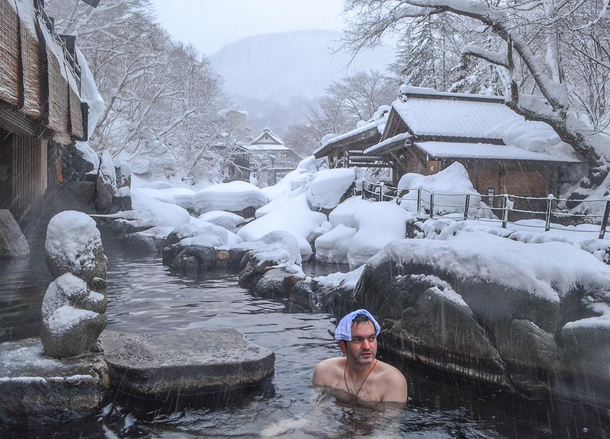 Allan Wilson Takaragawa Onsen Winter Snow Osenkaku Ryokan