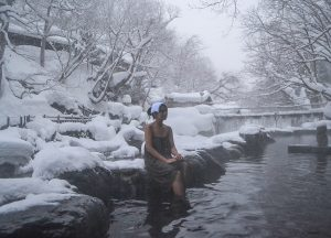 Cold Outside, Osenkaku Ryokan Takaragawa Onsen in Winter Snow