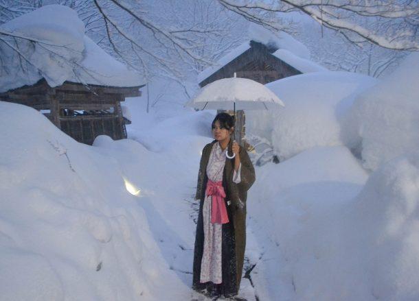 takaragawa onsen in winter snow  osenkaku ryokan  minakami gunma