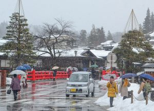 Snowing in Takayama, JR Japan Rail Pass Travel in Winter February Snow
