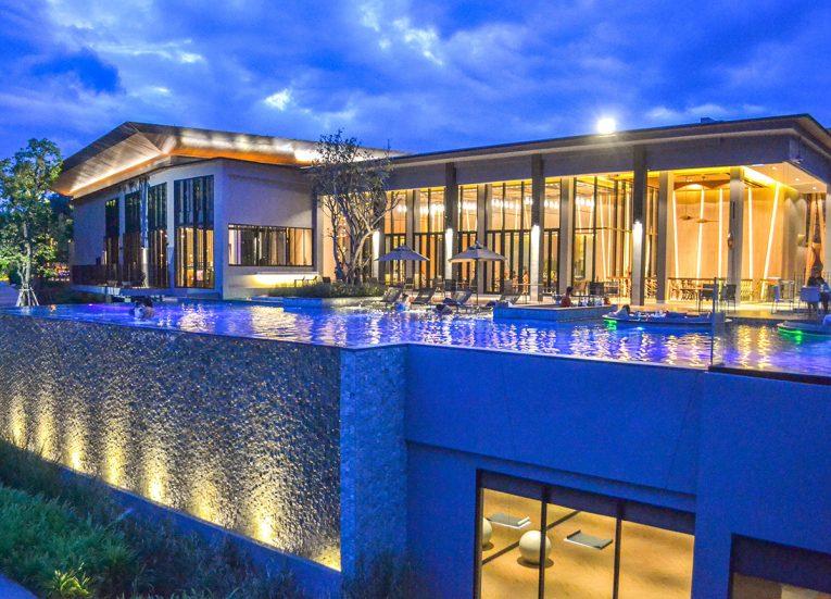 Nightlife at Pool Bar, Romance in Khao Yai DusitD2 Resort Thailand
