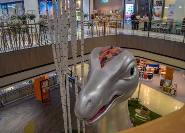 Dinosaur at Central Plaza Mall in Korat Nakhon Ratchasima