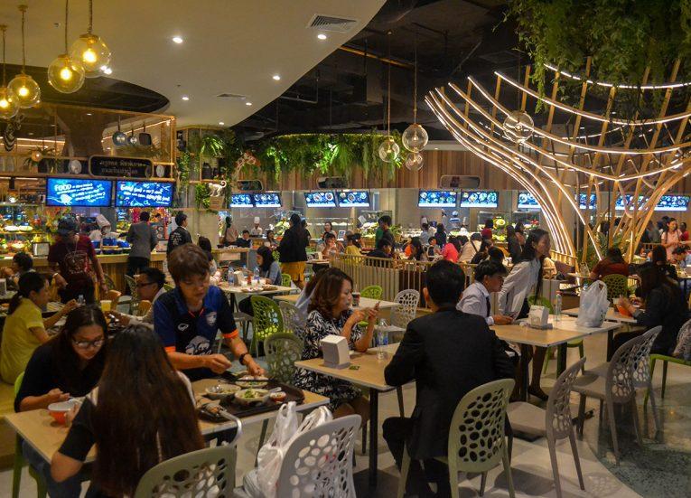 Food Court at Central Plaza Mall in Korat Nakhon Ratchasima