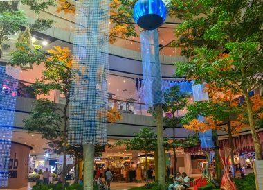 Interior Gardens of Central Plaza Mall in Korat Nakhon Ratchasima