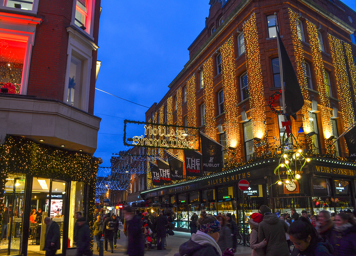 Christmas In Dublin City Centre: Trees, Lights And