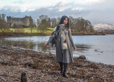 Dunstaffnage Castle, Winter Road Trip in the Scottish Highlands Snow Scotland