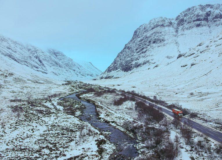 River Valleys, Winter Road Trip in the Scottish Highlands Snow Scotland