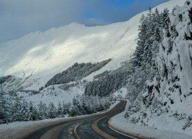 Loch Towards Skye, Winter Road Trip in the Scottish Highlands Snow Scotland
