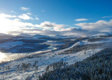 Loch Lomond Viewpoint Winter Road Trip in the Scottish Highlands Snow Scotland