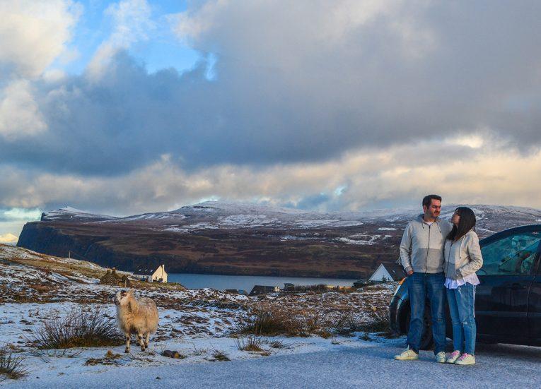Landscape, Winter Road Trip in the Scottish Highlands Snow Scotland