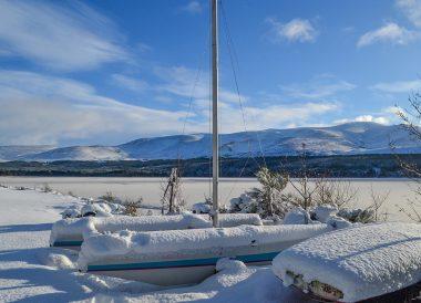 Loch Morlich Frozen, Winter Road Trip in the Scottish Highlands Snow Scotland (2)