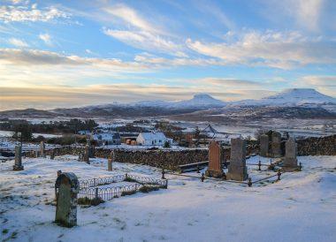 Sunrise at Isle of skye, Winter Road Trip in the Scottish Highlands Snow Scotland