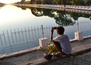 Locals Photographing Sunset, Prostitutes in Mandalay Myanmar, Burma