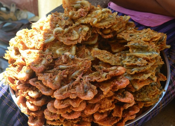 Deep Fried Prawns, Top Burmese Food, Eating Myanmar, Burma