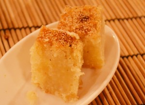 Sweet Semolina Cake, Top Burmese Food, Eating Myanmar, Burma