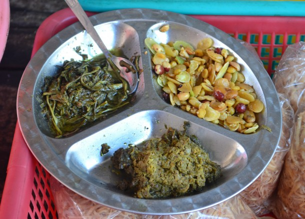 Tea Leaf Salad Lahpet Thoke, Top Burmese Food, Eating Myanmar, Burma